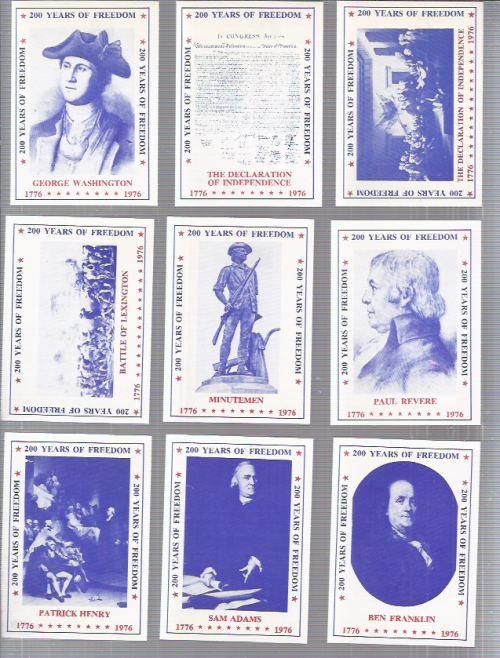 1976 SSPC 200 Years of Freedom USA 45-card complete set
