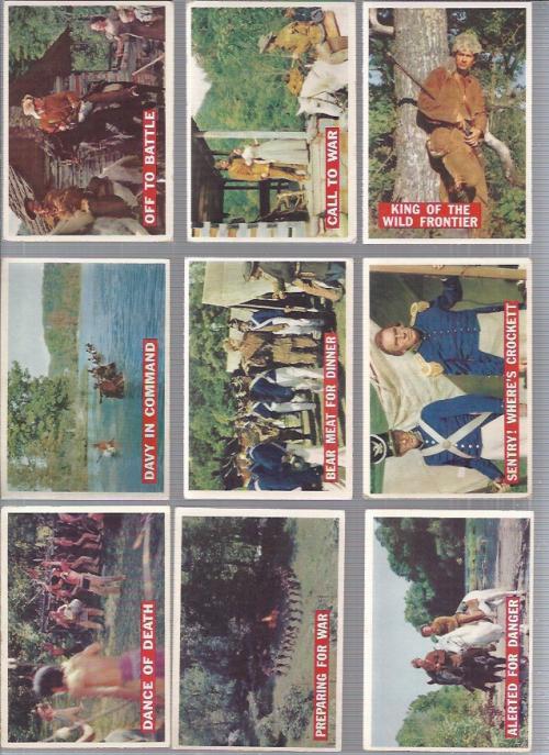 1956 Disney Davy Crockett Orange Back Complete 80 Card Set