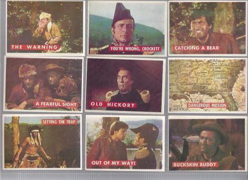 1956 Disney Davy Crockett Green Back Complete 80 Card Set