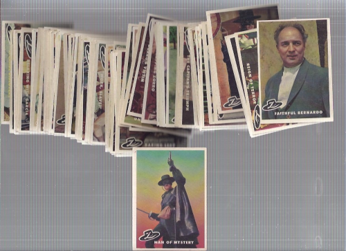 1958 Disney Zorro Complete 88 Card Set back image
