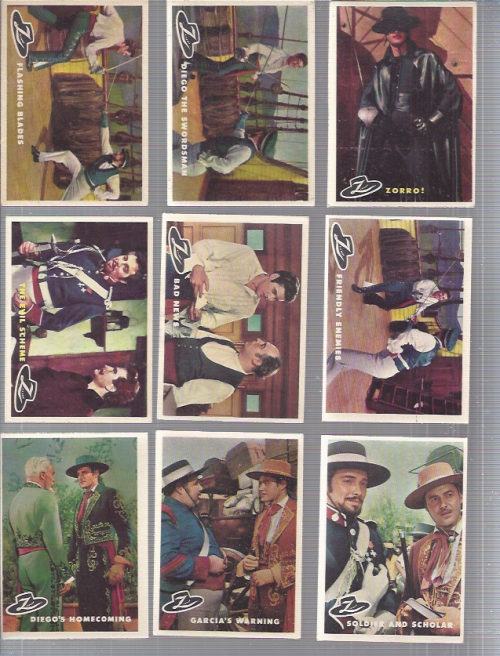1958 Disney Zorro Complete 88 Card Set