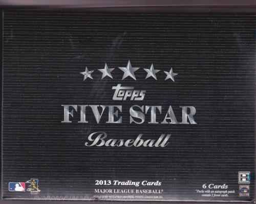 2013 Topps FIVE STAR Baseball HOBBY Box