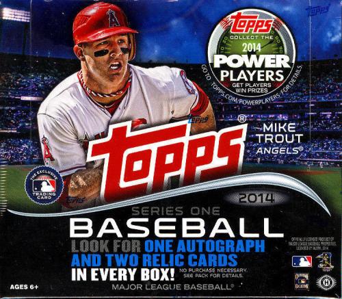 2014 Topps Baseball Series 1 HTA JUMBO Box