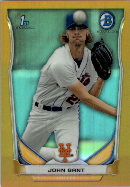 2014 Prospects Chrome Green Refractor//75 #BCP72 Matthew Bowman New York Mets