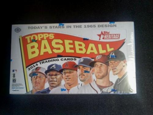 2014 Topps HERITAGE Baseball HOBBY Box