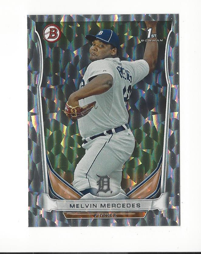 2014 Bowman Prospects Silver Ice #BP68 Melvin Mercedes
