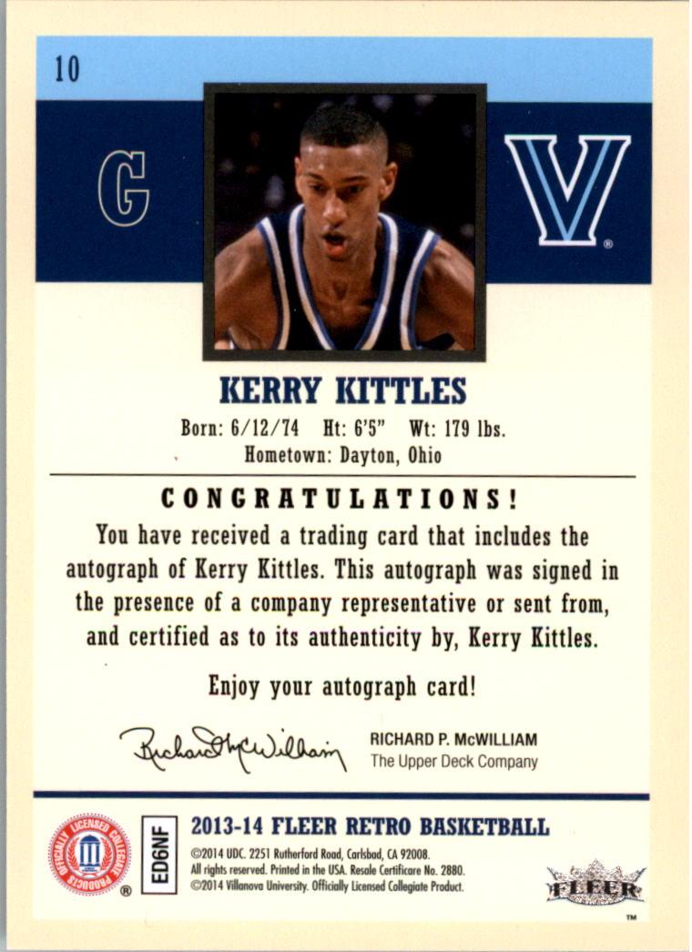 2013 14 Fleer Retro Autographs 10 Kerry Kittles G Auto NM MT
