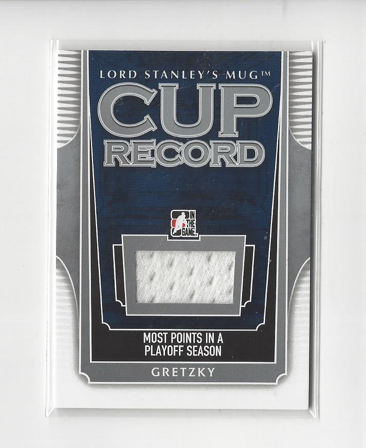 2013-14 ITG Lord Stanley's Mug Cup Records Jerseys #CR06  Wayne Gretzky/80*