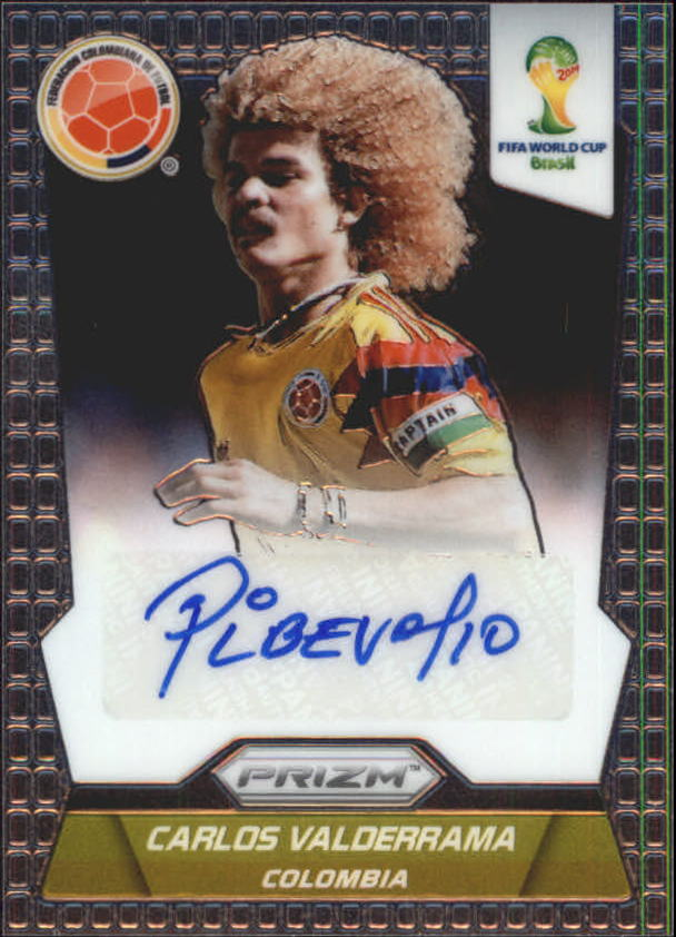 2014 Panini Prizm World Cup Signatures #SCV Carlos Valderrama