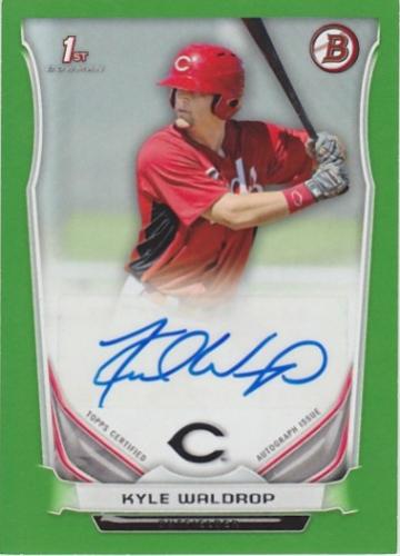 2014 Bowman Prospect Autographs Green #PAKW Kyle Waldrop