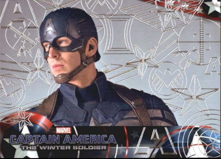 2014 Captain America The Winter Soldier Silver Foil #8 Steve Rogers, the Super Soldier, prepares to lead