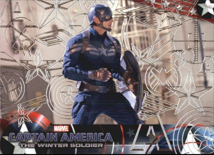 2014 Captain America The Winter Soldier Silver Foil #14 Captain America prepares to battle with whatever s
