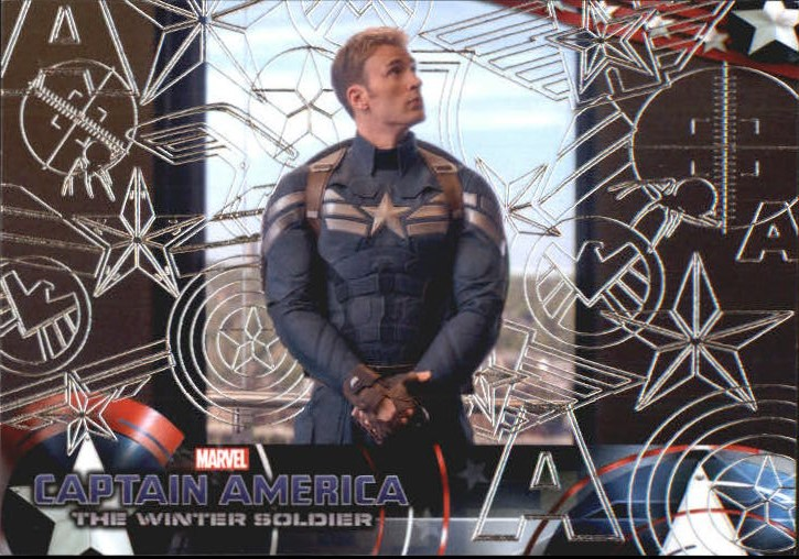 2014 Captain America The Winter Soldier Silver Foil #39 Initially, nothing seems amiss as Captain America