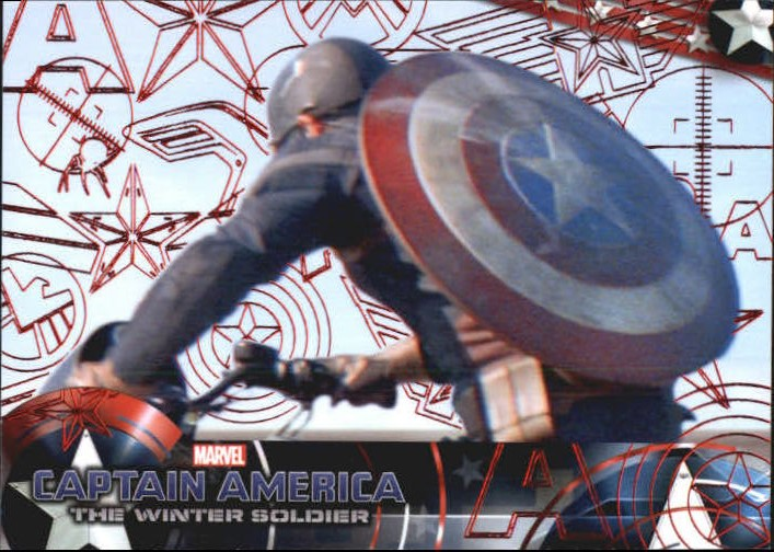 2014 Captain America The Winter Soldier Red Foil #43 After eluding a group of S.H.I.E.L.D. agents sent