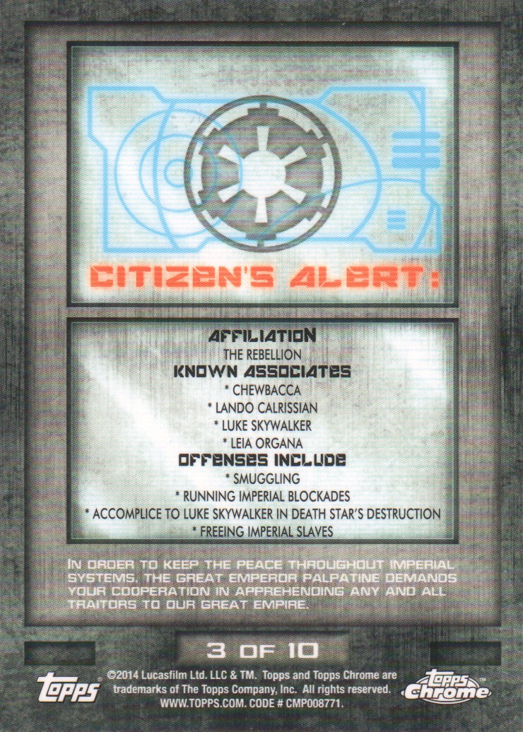 2014-Topps-Star-Wars-Chrome-Perspectives-Inserts-Trading-Cards-Pick-From-List miniature 7