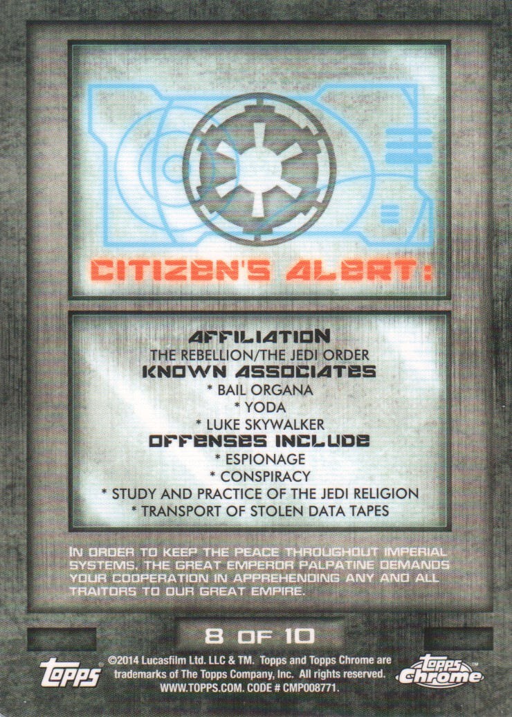 2014-Topps-Star-Wars-Chrome-Perspectives-Inserts-Trading-Cards-Pick-From-List miniature 17