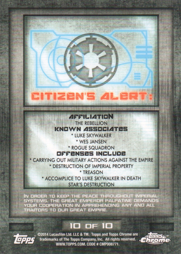 2014-Topps-Star-Wars-Chrome-Perspectives-Inserts-Trading-Cards-Pick-From-List miniature 21