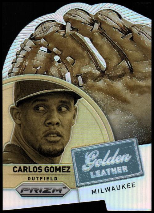 2014 Panini Prizm Gold Leather Die Cut Prizms #5 Carlos Gomez