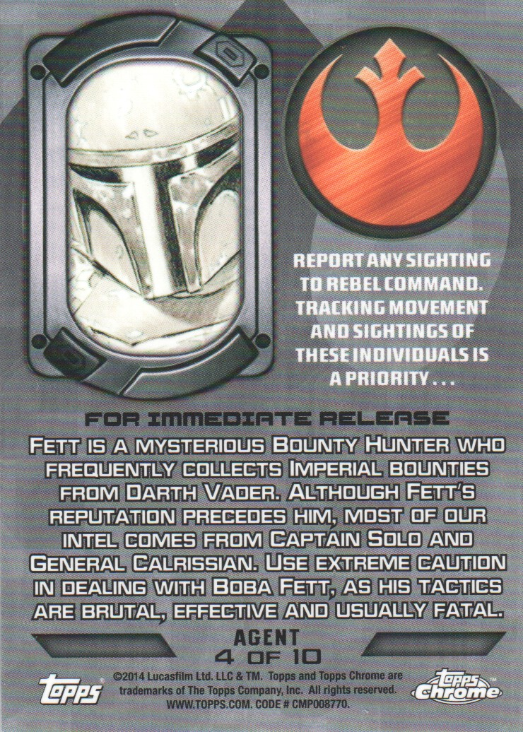 2014-Topps-Star-Wars-Chrome-Perspectives-Inserts-Trading-Cards-Pick-From-List miniature 55