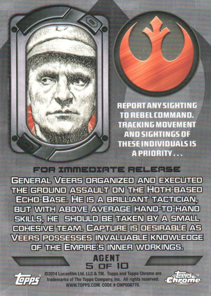2014-Topps-Star-Wars-Chrome-Perspectives-Inserts-Trading-Cards-Pick-From-List miniature 57