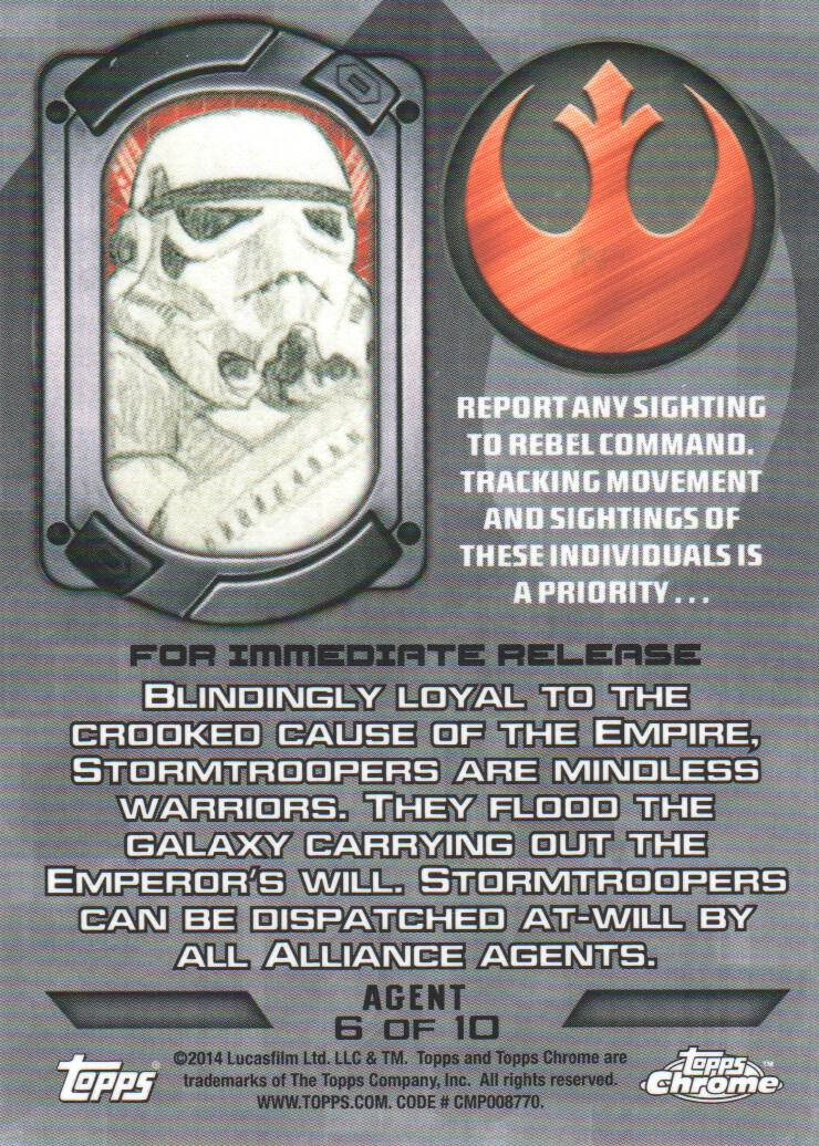 2014-Topps-Star-Wars-Chrome-Perspectives-Inserts-Trading-Cards-Pick-From-List miniature 59