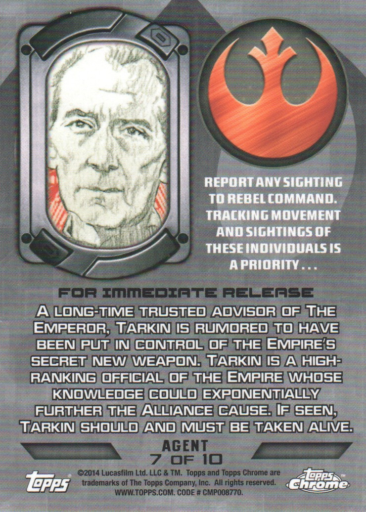 2014-Topps-Star-Wars-Chrome-Perspectives-Inserts-Trading-Cards-Pick-From-List miniature 61