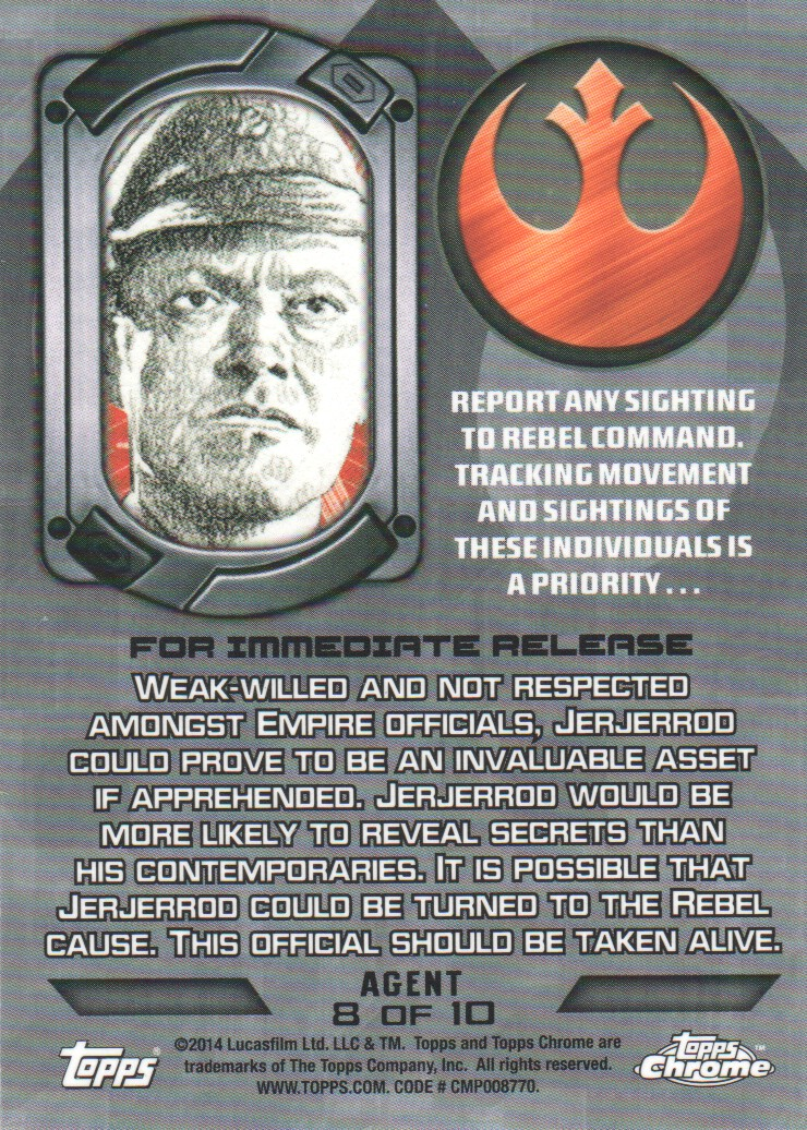 2014-Topps-Star-Wars-Chrome-Perspectives-Inserts-Trading-Cards-Pick-From-List miniature 63