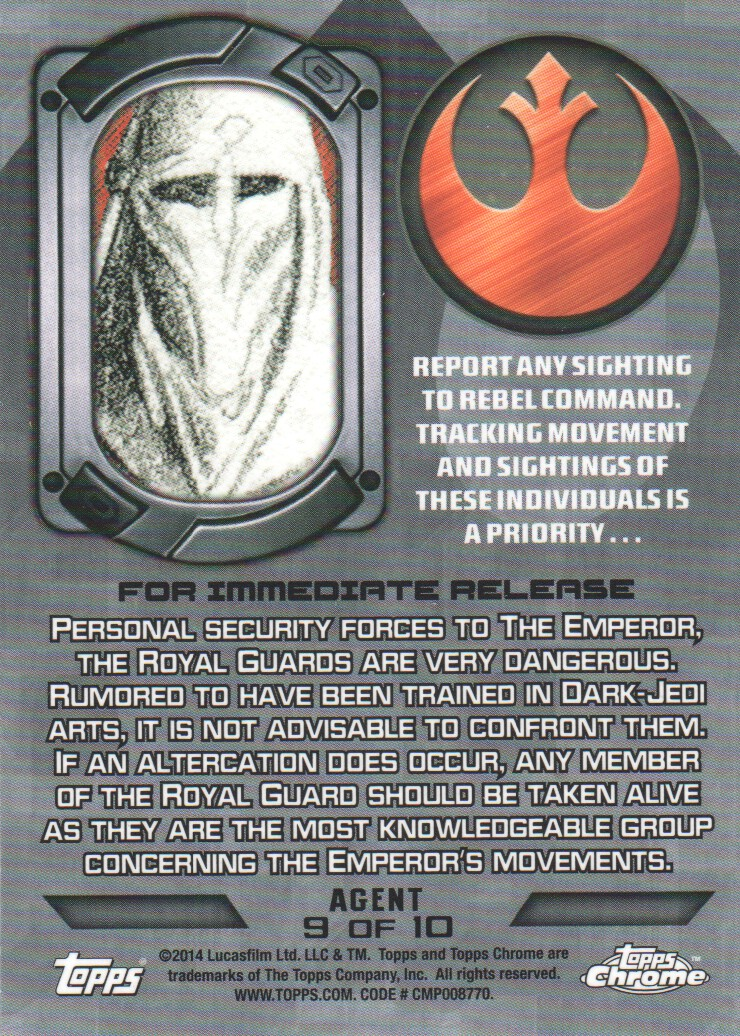 2014-Topps-Star-Wars-Chrome-Perspectives-Inserts-Trading-Cards-Pick-From-List miniature 65