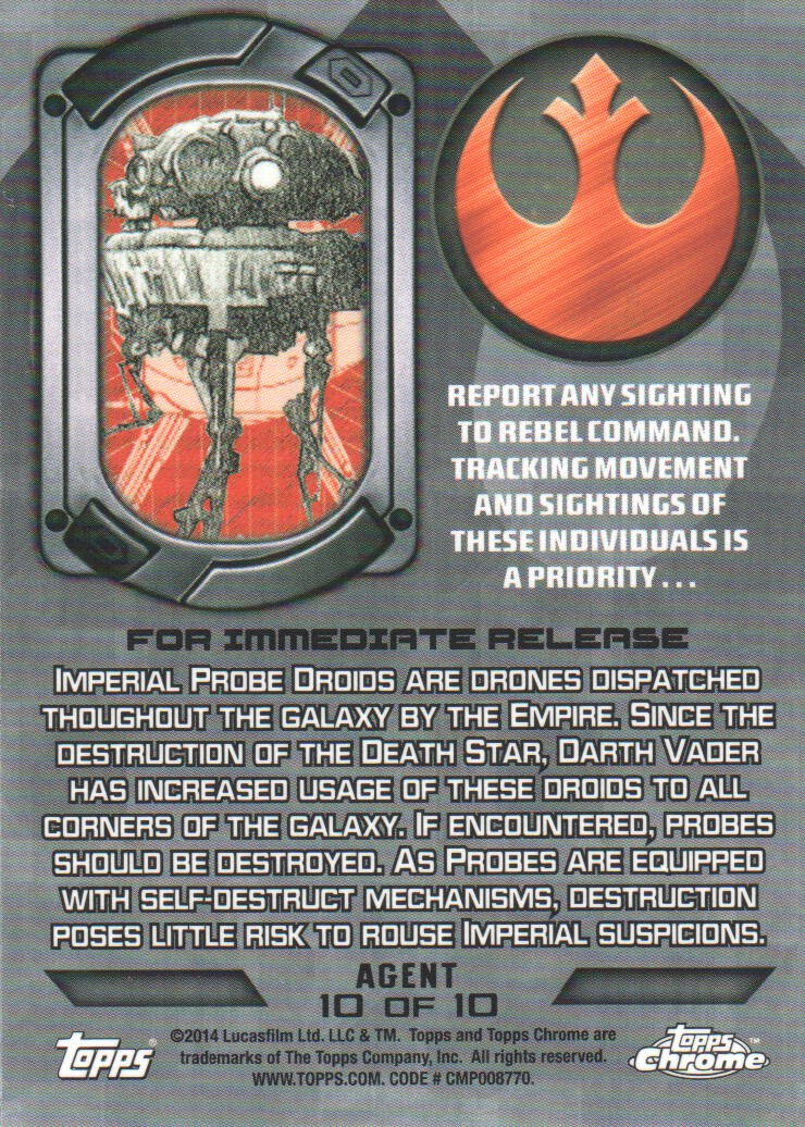 2014-Topps-Star-Wars-Chrome-Perspectives-Inserts-Trading-Cards-Pick-From-List miniature 67