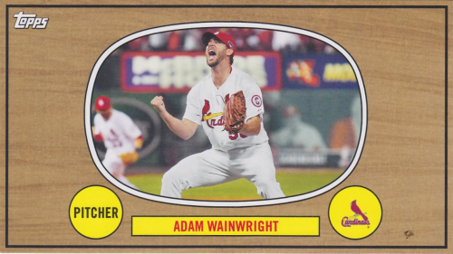 2014 Topps Archives The Winners Celebrate Box Topper #67WCAW Adam Wainwright