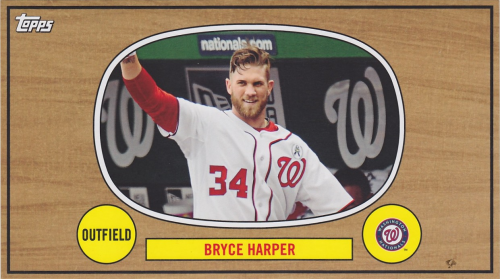 2014 Topps Archives The Winners Celebrate Box Topper #67WCBH Bryce Harper