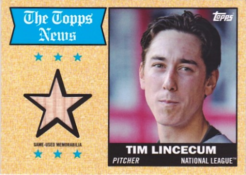 2014 Topps Archives Relics #68TRTL Tim Lincecum