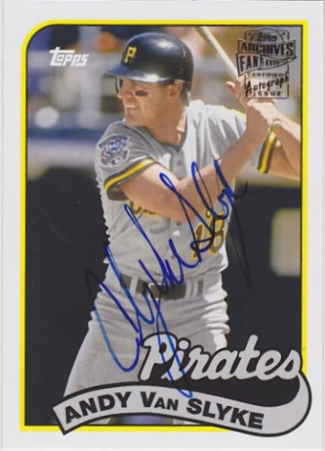 2014 Topps Archives Fan Favorites Autographs #FFAAVS Andy Van Slyke