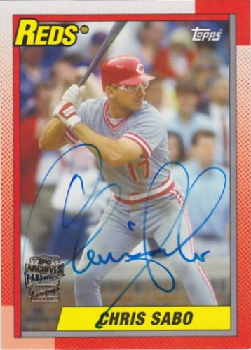2014 Topps Archives Fan Favorites Autographs #FFACS Chris Sabo