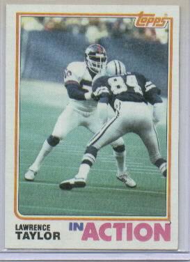 1982 Topps #435 Lawrence Taylor IA