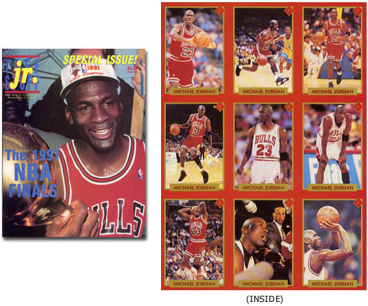 grossiste 670e3 d84a0 Tuff Stuff Jr. Special Issue with Uncut Sheet of Michael ...