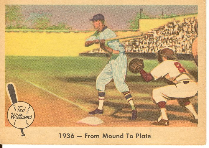 1959 Fleer Ted Williams #7 From Mound to Plate