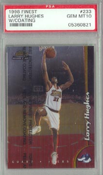 1998-99 Topps Finest Basketball #233 Larry Hughes PSA GEM MINT 10 ROOKIE NICE!!