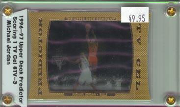 1996-97 Upper Deck Basketball Predictor Scoring 1 TV Cel Michael Jordan BEAUTIFUL!