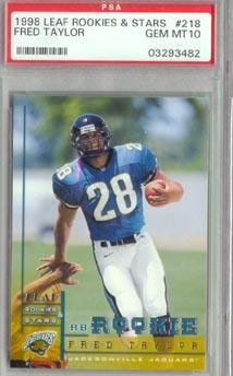 1998 Leaf Rookies & Stars Football #218 Fred Taylor PSA Gem Mint 10 Jacksonville Jaguars
