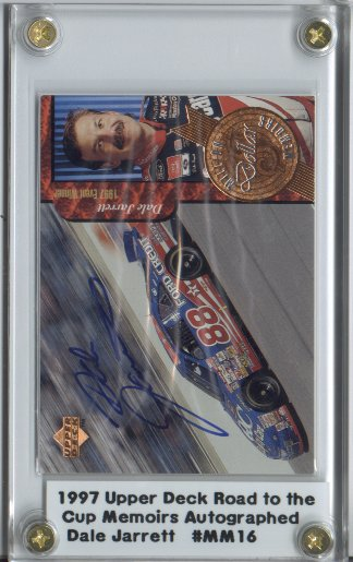 1997 Upper Deck Road To The Cup Million Dollar Memoirs Autographs #MM16 Dale Jarrett