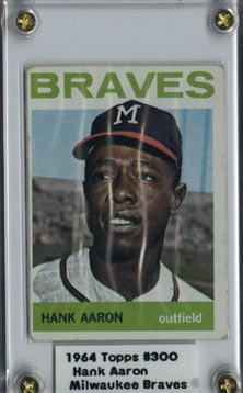 1964 Topps #300 Baseball Hank Aaron Excellent NICE!