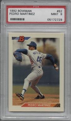 1992 Bowman Baseball #82 Pedro Martinez 2nd Year PSA MINT 9 NICE!