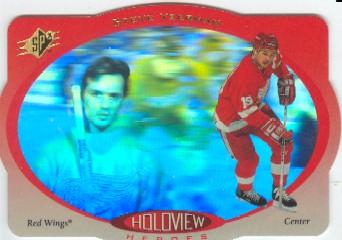 1996-97 SPx Holoview Heroes #HH3 Steve Yzerman