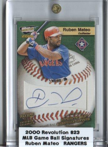 2000 Revolution MLB Game Ball Signatures #23 Ruben Mateo