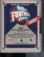 1991 UPPER DECK FOOTBALL UPDATE SET  200 CARDS INCLUDES BRETT FAVRE ROOKIE