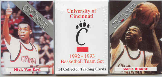 1992 93 Cincinnati Bearcats Set With Nick Van Exel RC