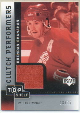 2002-03 UD Top Shelf Clutch Performers Jerseys #CPBS Brendan Shanahan
