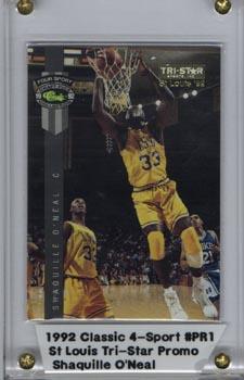 1992 Classic 4 - Sport Shaquille O'Neal St. Louis Tri-Star Promo Card Mint RARE!