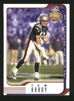 2002 Fleer Focus JE #1 Tom Brady